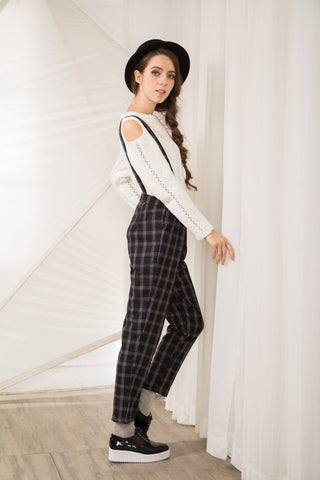 Tartan Check Trouser with Braces