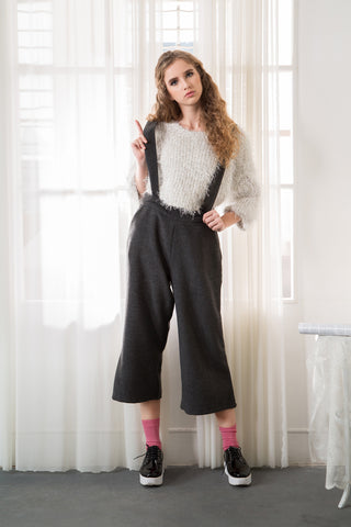 Wide Leg Trouser with Braces