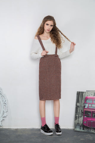 Houndstooth Dungaree Dress