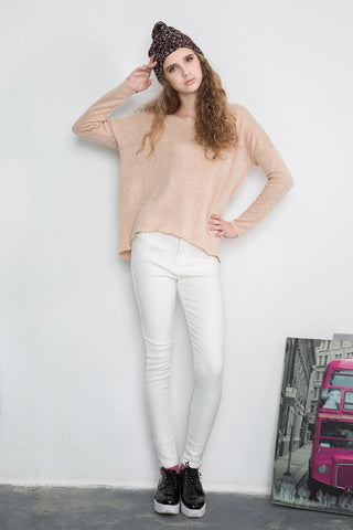 White Cosy Skinny Trousers with Fleece Lining