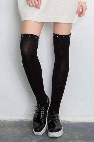 Studs Over The Knee Socks