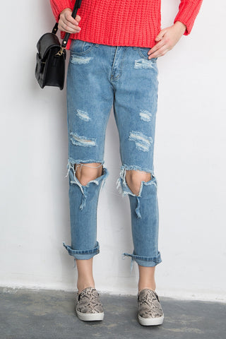 Boyfriend Jean with Madness Rips