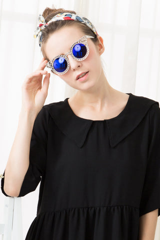 Quay Cut-Out Sunglasses - Silver
