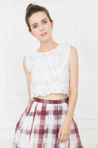 Lace Floral Cropped Top