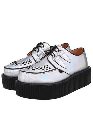 Silver Holographic Platform Creepers