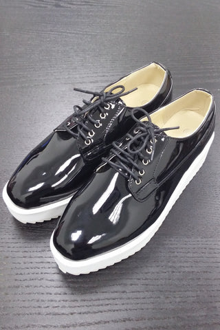 Black Wedge Brogue