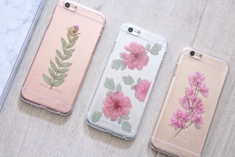 Handmade Real Pressed Flowers Sakura Phone Case