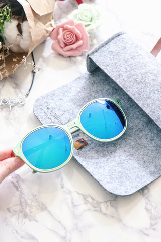 Pastel Mint Sunglasses with Mirror Lens