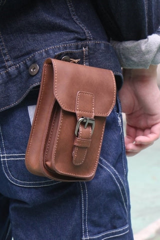 Leather-Look Hip Bag