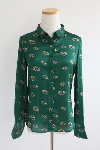 "NEW VERSION: ""Eyes"" Shirt - Green"