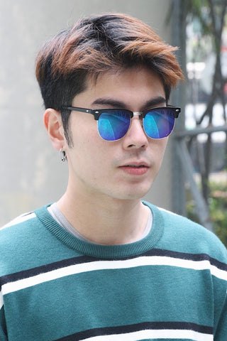 Black Half Frame Sunglasses
