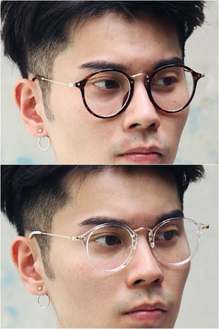 Clear Frame Round Glasses