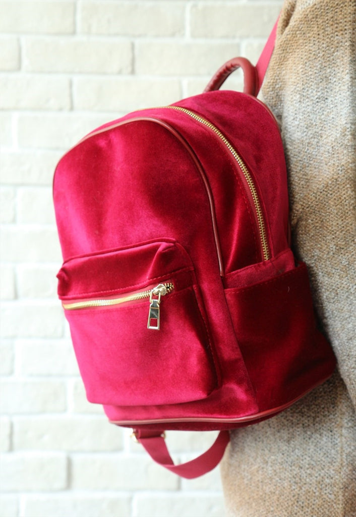 Velvet Backpack - Red