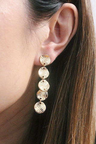 Discs Drop Earrings - Gold