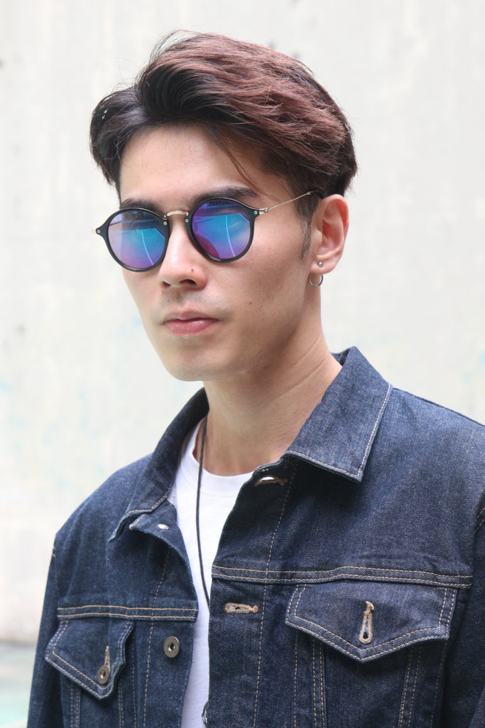 Black Frame Round Sunglasses