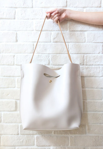 Two-Way Shopper Bag - Beige