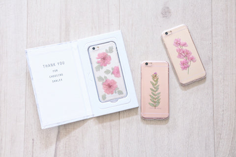 Handmade Real Pressed Flowers Phone Case