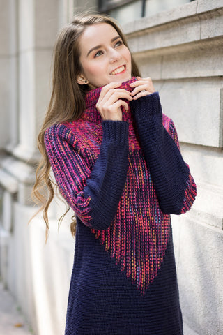 Fairisle Knit Dress with Roll Neck