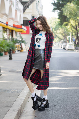 Tartan Check Shirt Dress