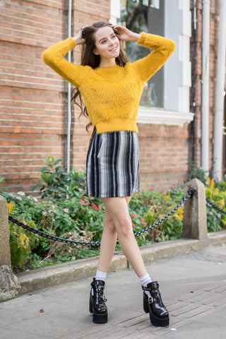 Stripe Wrap Skirt