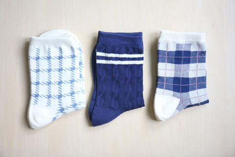Cable 2 Stripe Socks