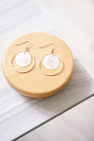 Moon Circle Earrings