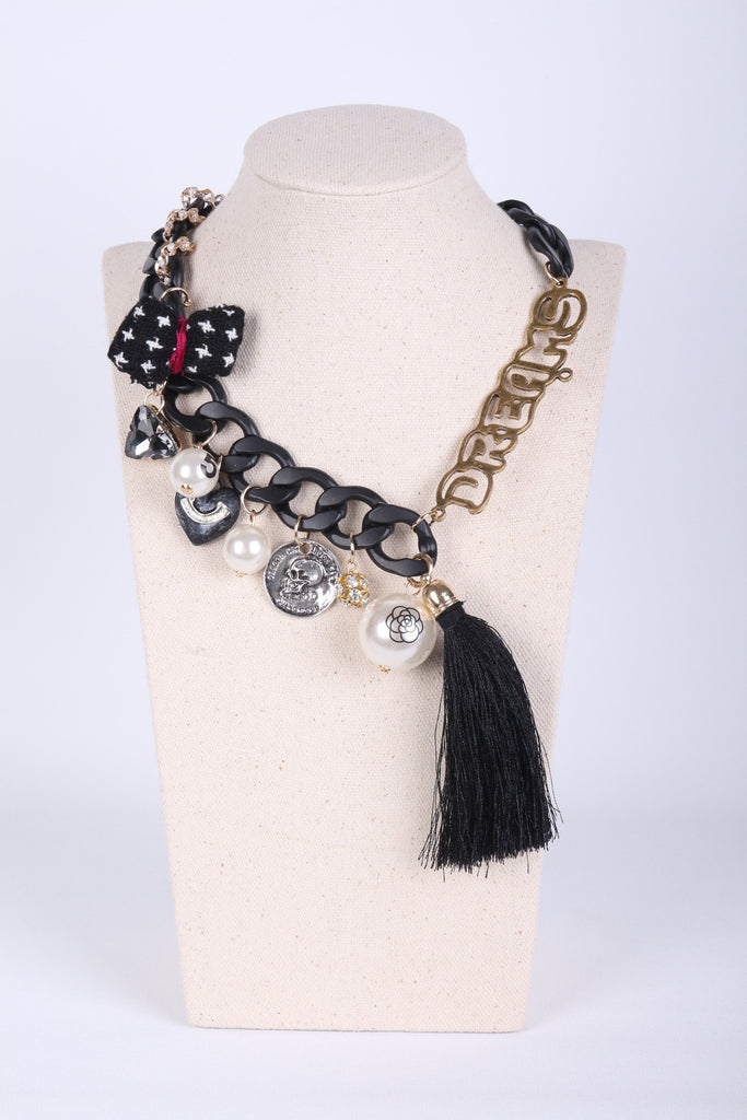 'DREAMS' Tassel Embellished Necklace