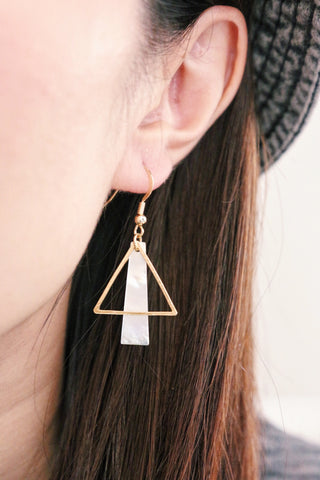 Triangle Through & Through Earrings