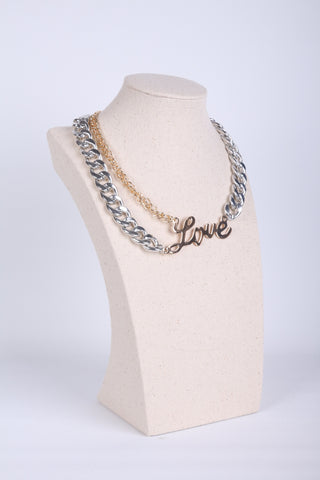 'LOVE' Chain-Link Necklace