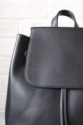 Minimal Black Backpack