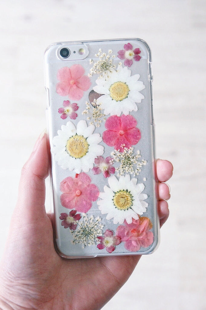 low priced 331cc 40619 Handmade Real Pressed Flowers Phone Case – Shalex