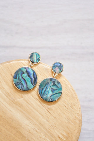 Marble Swing Earrings - Iridescent