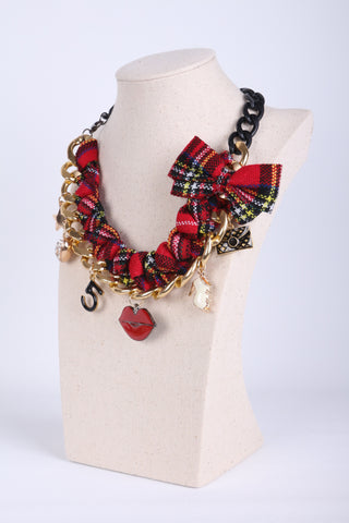 Classic Check Wrap Chain Necklace
