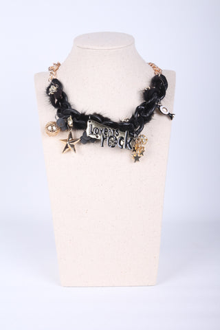"""Lovers Rock"" Feather Skull Necklace"