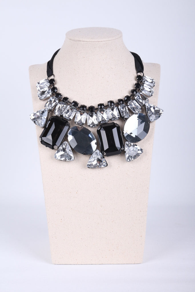 Gem Wrapped Collar Necklace