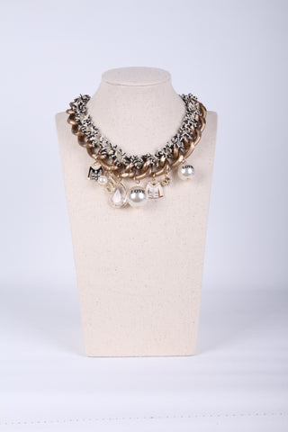 Pearl Thread Wrap Necklace