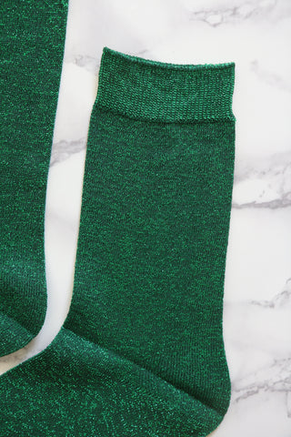Shalex Metallic Socks - Green