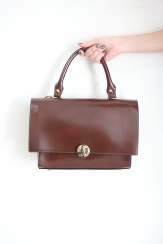 Shalex Foldover Bag - Brown