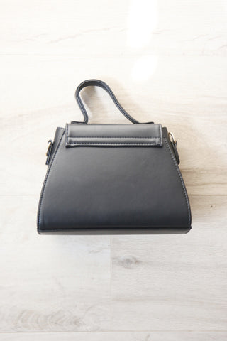 Trapezoid Box Bag - Black