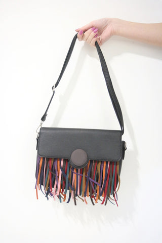 Suede Tassel Shoulder Bag / Clutch Bag