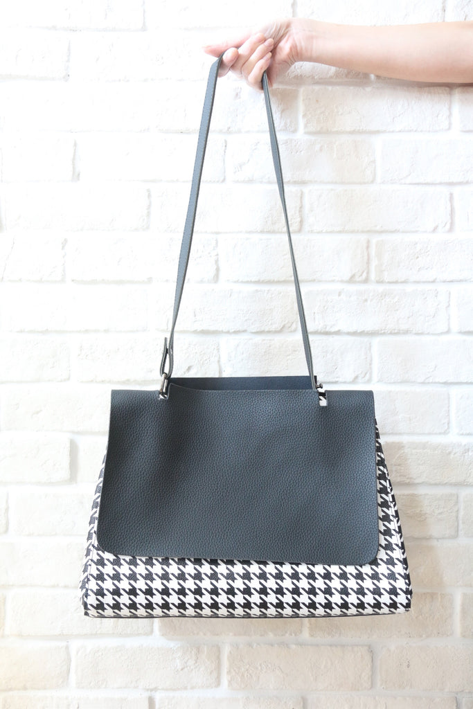 Houndstooth Foldover Bag