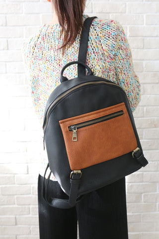 Shalex Buckle Detail Backpack - Black