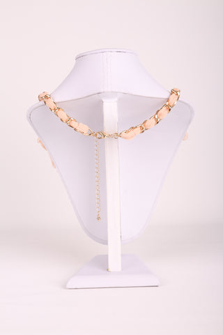 Floral Diamante Chain Necklace