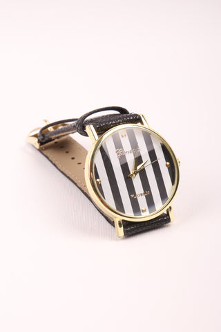 Stripes Watch - Black