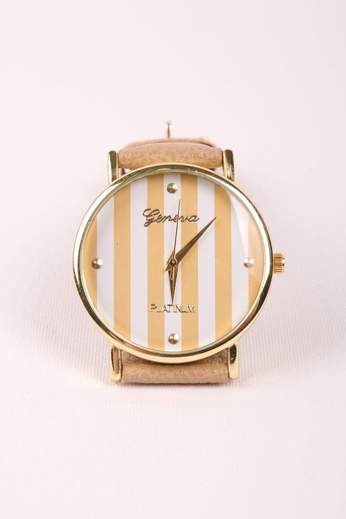 Stripes Watch - Taupe