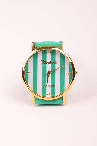 Stripes Watch - Mint