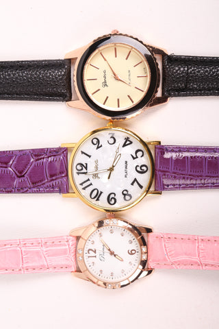 Crocodile Skin Strap Watch