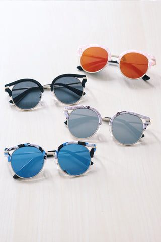 Cut-Out Cat Eye Sunglasses - Camouflage