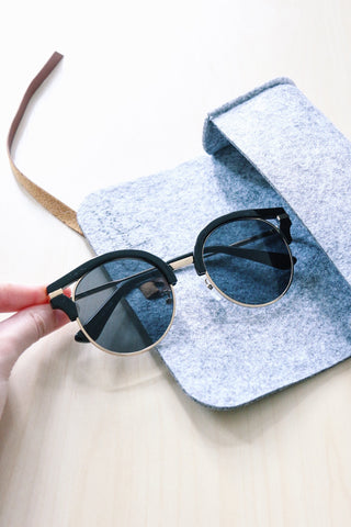 Cut-Out Cat Eye Sunglasses - Black