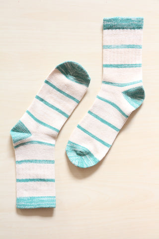 Green Stripe Socks